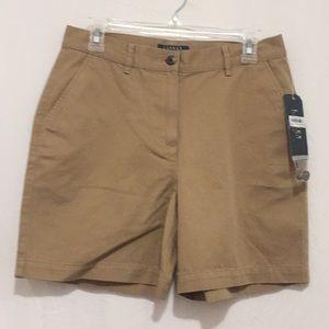 Lauren Khaki 8 P ladies shorts NWT Cotton